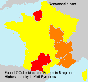 Surname Ouhmid in France