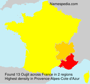 Surname Oujjit in France