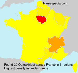 Surname Oumakhlouf in France