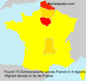 Surname Oumezzaouche in France