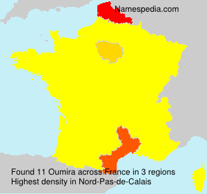 Surname Oumira in France