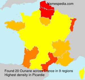 Familiennamen Ounane - France