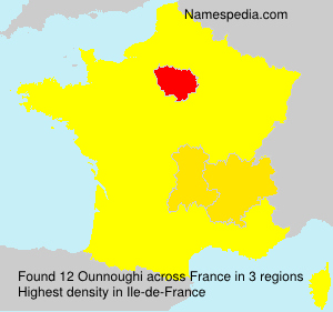 Surname Ounnoughi in France