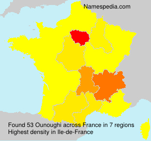 Surname Ounoughi in France