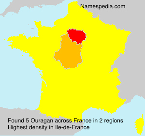 Surname Ouragan in France