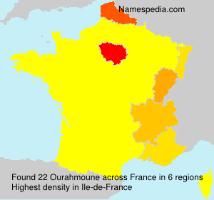 Surname Ourahmoune in France
