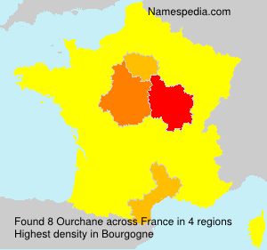 Surname Ourchane in France