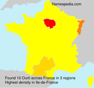 Surname Ourti in France