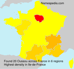 Surname Oussou in France