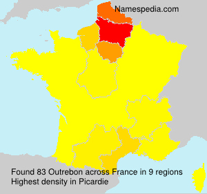 Surname Outrebon in France