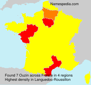 Surname Ouzin in France
