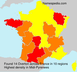 Surname Overton in France