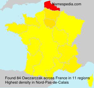 Surname Owczarczak in France