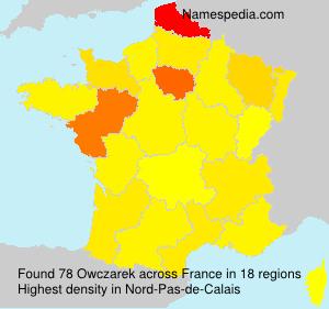 Surname Owczarek in France
