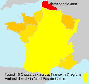 Surname Owczarzak in France