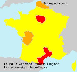 Surname Oye in France
