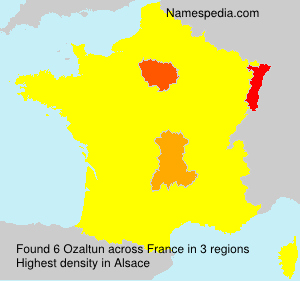 Surname Ozaltun in France