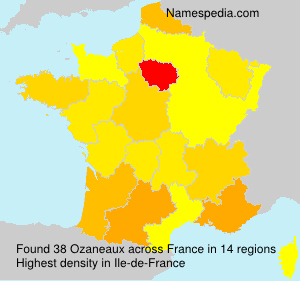 Surname Ozaneaux in France