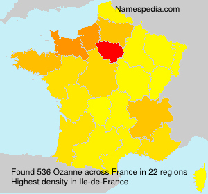 Surname Ozanne in France