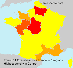 Surname Ozanski in France