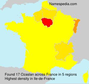 Surname Ozaslan in France