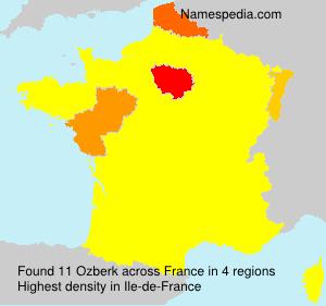 Surname Ozberk in France