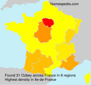 Surname Ozbey in France