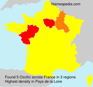 Surname Ozcifci in France