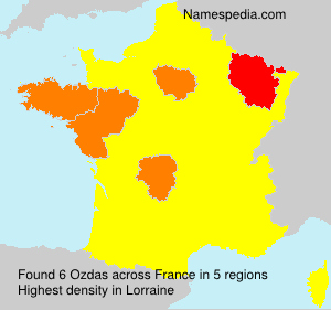 Surname Ozdas in France