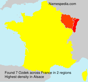 Surname Ozdek in France