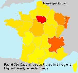 Surname Ozdemir in France