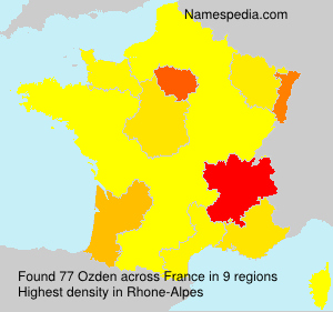 Surname Ozden in France