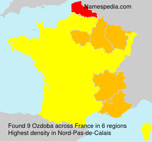 Surname Ozdoba in France