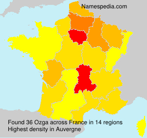 Surname Ozga in France