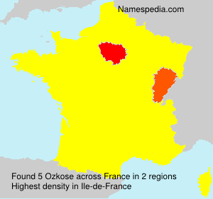 Surname Ozkose in France