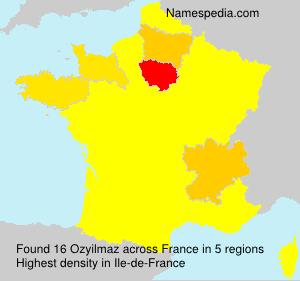 Familiennamen Ozyilmaz - France