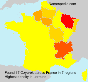 Surname Ozyurek in France