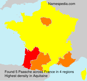 Surname Paasche in France