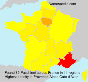 Surname Pacchioni in France