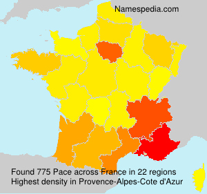 Surname Pace in France