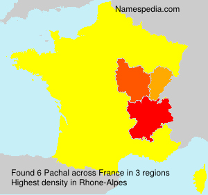 Surname Pachal in France