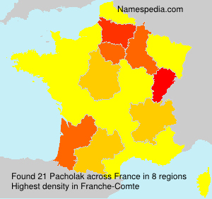 Surname Pacholak in France