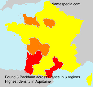 Surname Packham in France