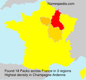 Surname Packo in France