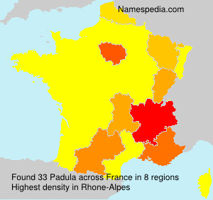 Surname Padula in France