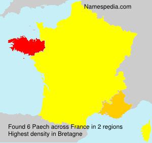 Familiennamen Paech - France