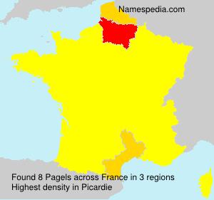 Familiennamen Pagels - France