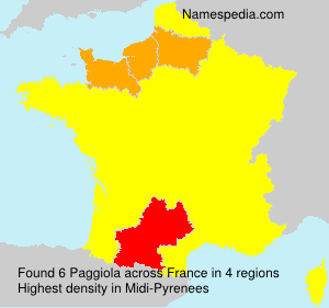 Surname Paggiola in France
