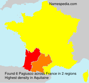 Surname Pagiusco in France