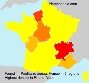 Surname Pagliazzo in France